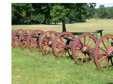 The gun park at Valley Forge