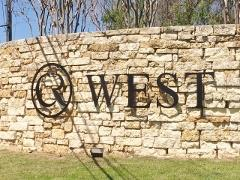 Circle C West sign near the Muirfield subdivision Entrance