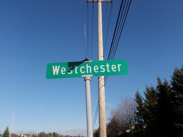 Westchester streetsign in Woodbury Park Livonia Michigan