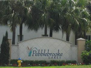 Pebblebrooke Lakes Naples Fl community sign