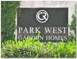 Park West Garden Homes Sign