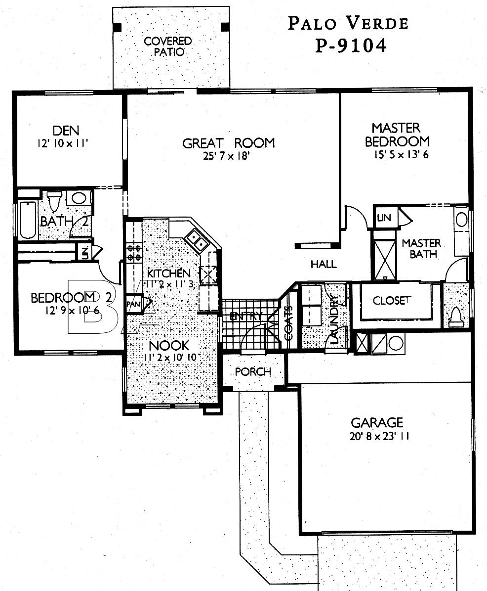 Sun City Grand Palo Verde floor plan, Del Webb Sun City Grand Floor Plan Model Home House Plans Floorplans Models in Surprise Phoenix Arizona AZ Ken Meade Realty Kathy Anderson