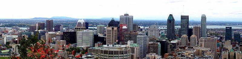 A panorama of downtown Montreal