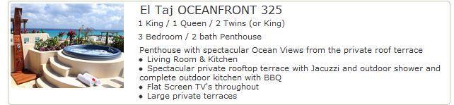 El Taj Oceanfront 325