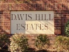 Sign at the entry to Davis Hills Estates, South Austin, TX 78748