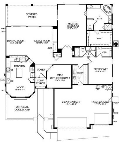 Sun City Festival Fiesta Floor Plan Model Home Del Webb Sun City