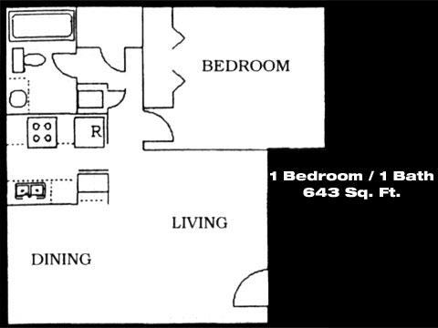 Amigos Del Sol - 1 Bed / 1 Bath Floor Plan