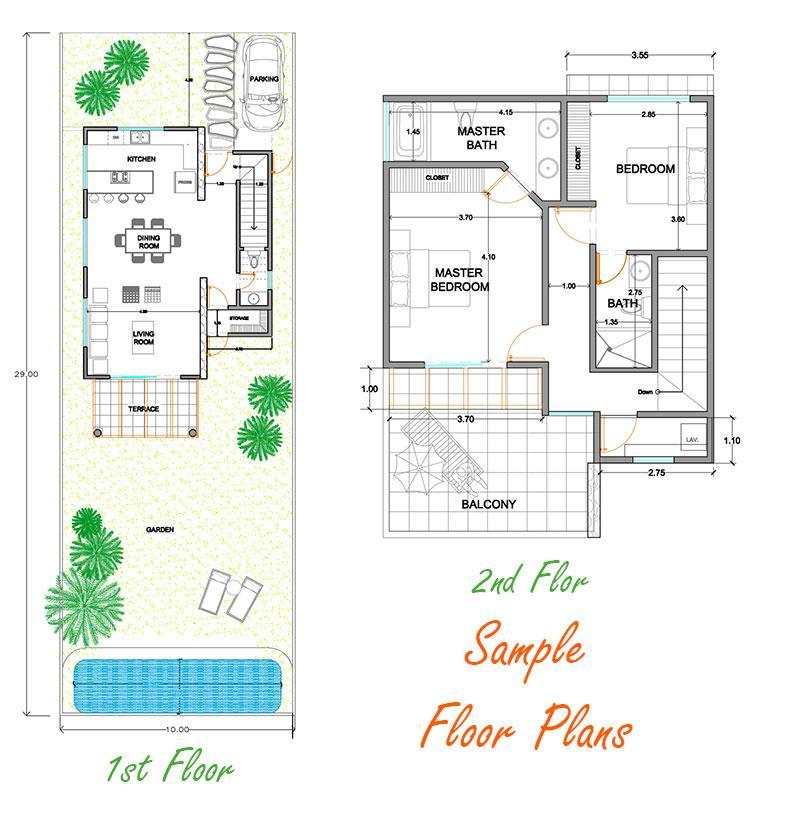 Example Floor Plans Custom Home Playa del Carmen