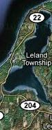 North Lake Leelanau in Leelanau County of Northern Michigan