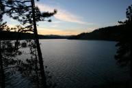 Sunset on Hayden Lake