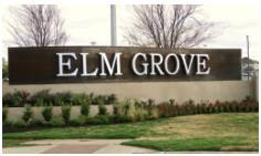 The sign at the entry to the Elm Grove neighborhood in Buda.