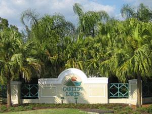 Carlton Lakes Naples Fl community sign