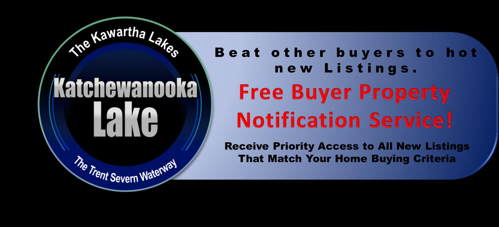 Katchewanooka Lake Real Estate Buyers VIP Listing Notification Service