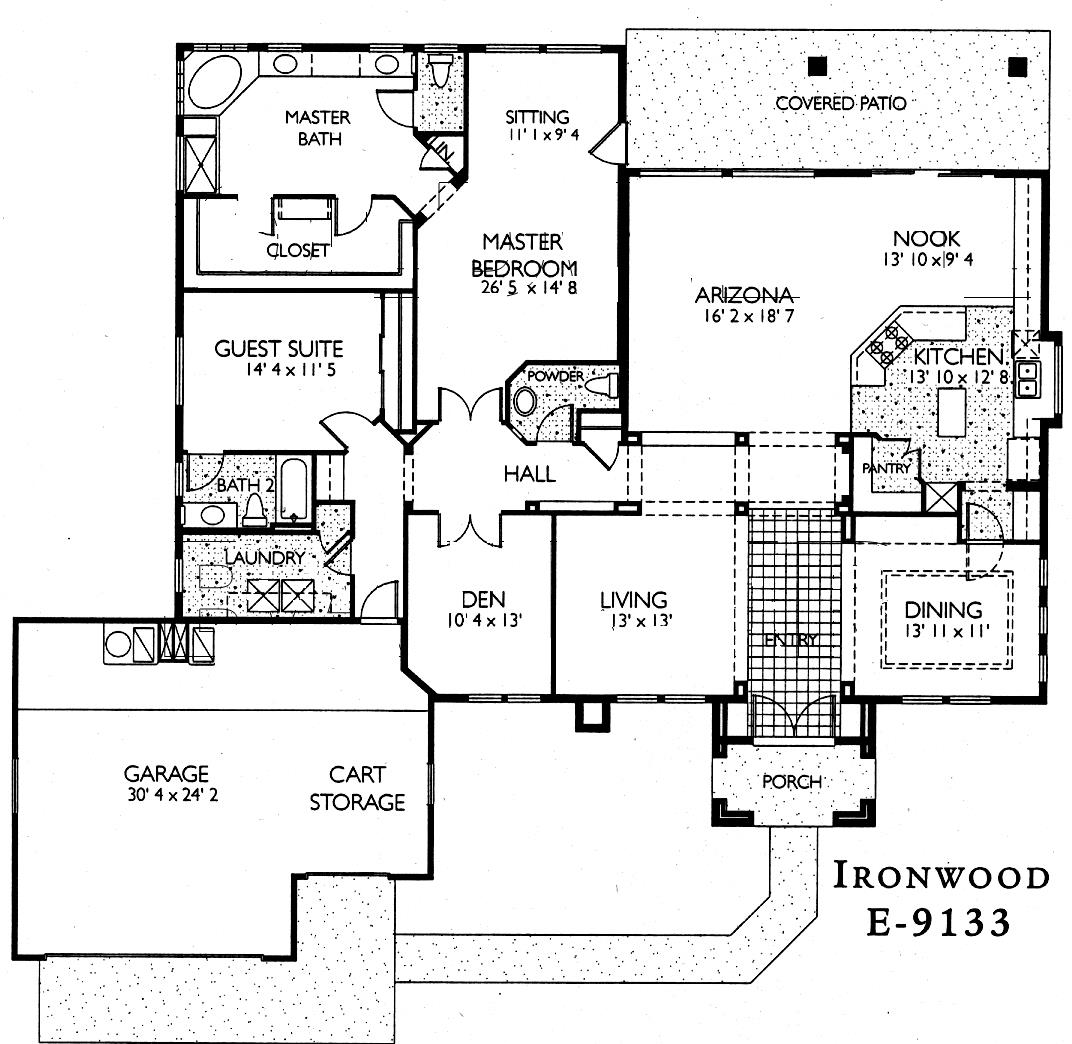 Sun City Grand Ironwood floor plan, Del Webb Sun City Grand Floor Plan Model Home House Plans Floorplans Models in Surprise Phoenix Arizona AZ Ken Meade Realty Kathy Anderson