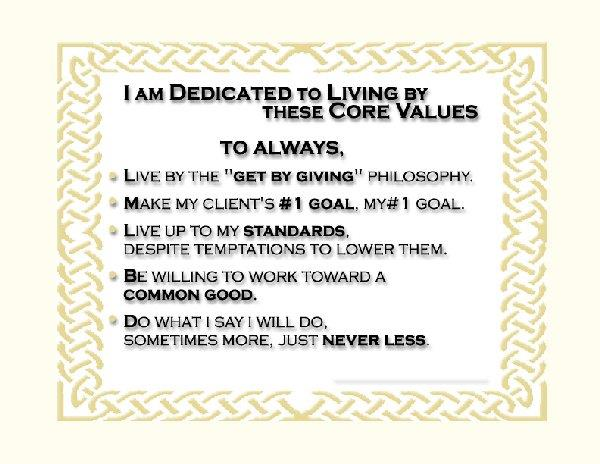Fred's Core Values
