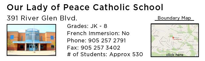 our lady of peace catholic school oakville