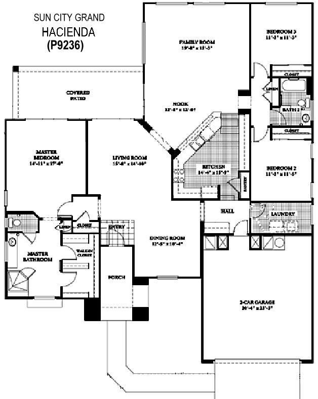 Sun City Grand Hacienda floor plan, Del Webb Sun City Grand Floor Plan Model Home House Plans Floorplans Models in Surprise Phoenix Arizona AZ Ken Meade Realty Kathy Anderson