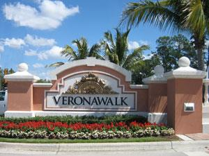 Verona Walk Naples Fl community sign