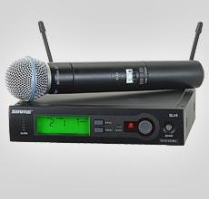Shure SLX Wireless Microphone System with SM Beta58 Handheld Transmitter