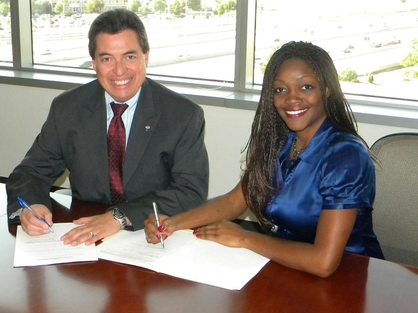 Cheryl and Regional VP Ricardo Cardenas