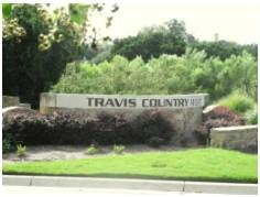 Travis Country West entry sign