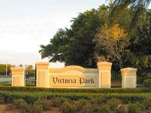 Victoria Park Naples Fl community sign