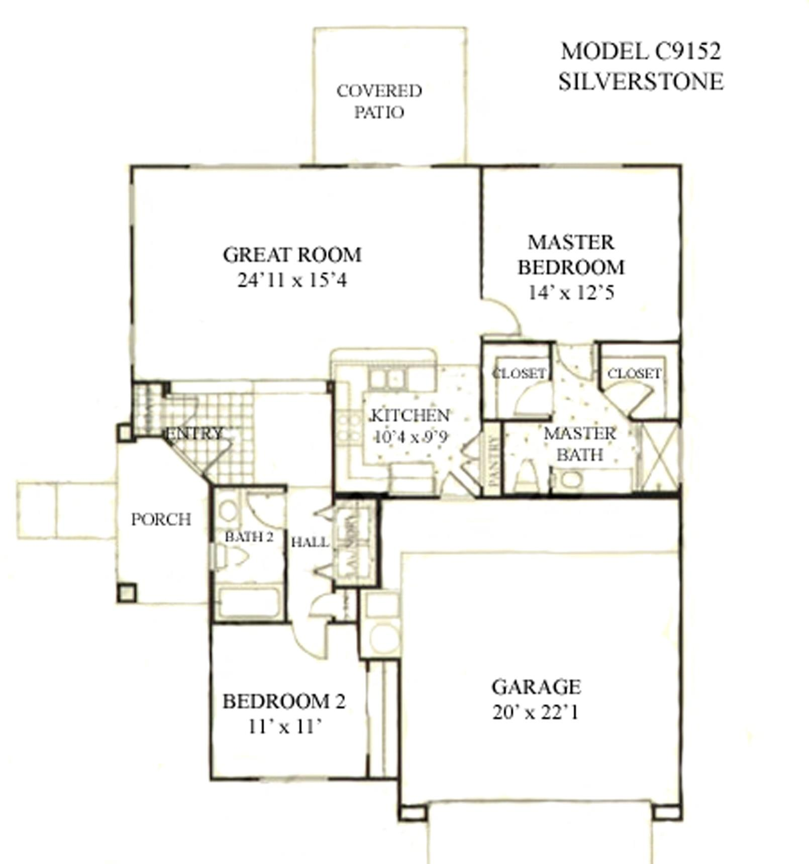 Sun City Grand Silverstone floor plan, Del Webb Sun City Grand Floor Plan Model Home House Plans Floorplans Models in Surprise Phoenix Arizona AZ Ken Meade Realty Kathy Anderson