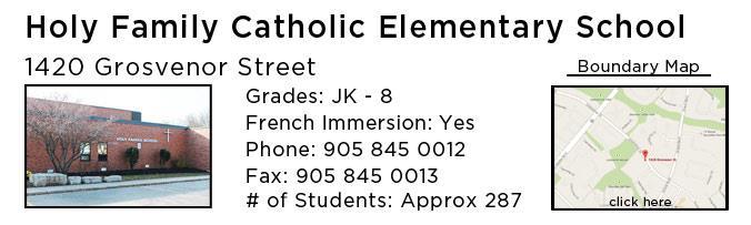 holy family catholic school oakville
