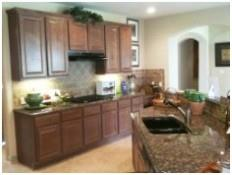 A lovely kitchen in the builder model home in The Ridge at Lantana