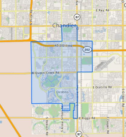 Bogle Junior High School Boundary Map
