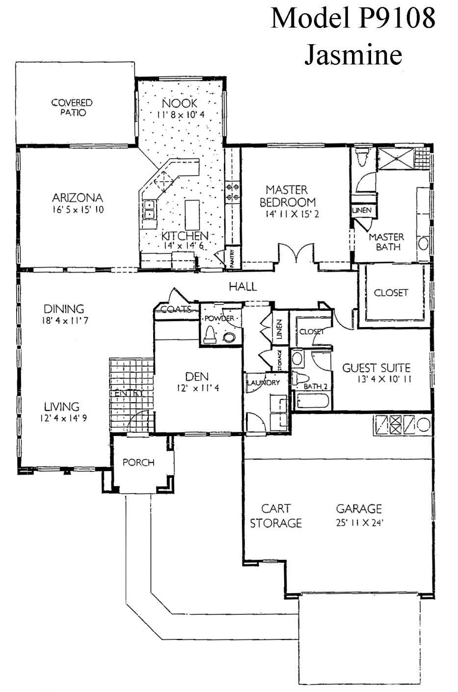 Sun City Grand Jasmine floor plan, Del Webb Sun City Grand Floor Plan Model Home House Plans Floorplans Models in Surprise Phoenix Arizona AZ Ken Meade Realty Kathy Anderson
