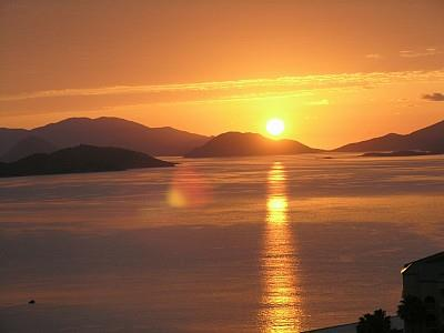 St. Thomas condo rental - Spectacular sunrise from the balcony!