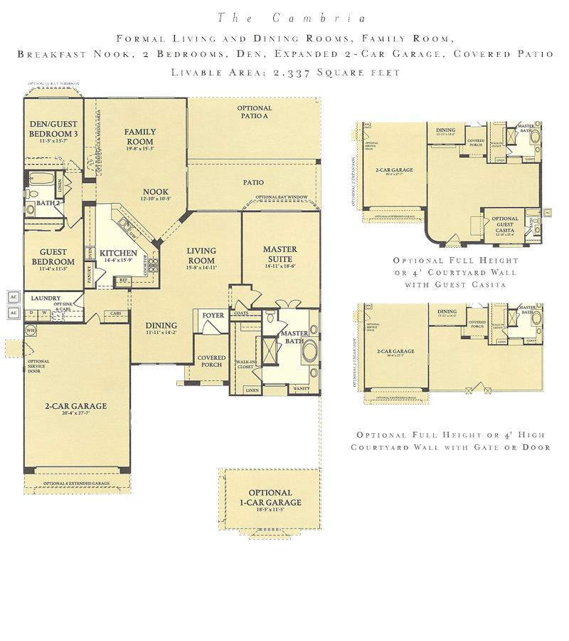 Corte Bella Cambria floor plan model