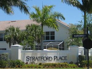 Stratford Place Naples Fl community sign