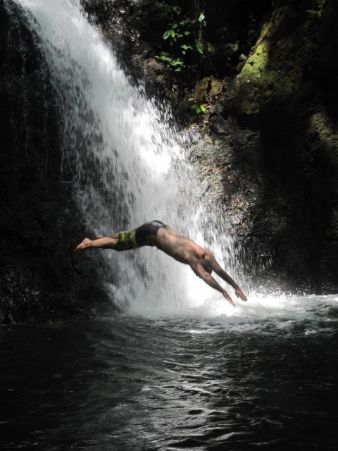 Morpho Waterfall Costa Rica