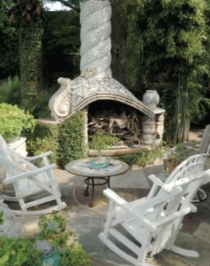 Fireplace in your garden