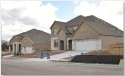 New construction in the Ridgeview subdivision in SW Austin.