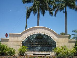 The Reserve at Naples Fl community sign