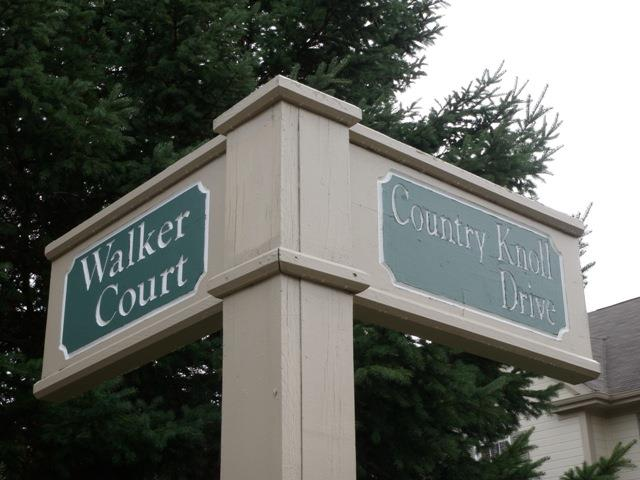 Country Club Village Street Sign