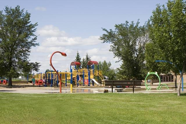 Creative Playground and Water Park at Sister O'Brien School in Silverwood Heights, Saskatoon