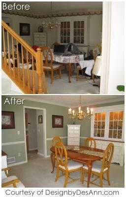 Real Estate Home Staging - Before and After Pics - Sheffield Lake, Lorain County Ohio