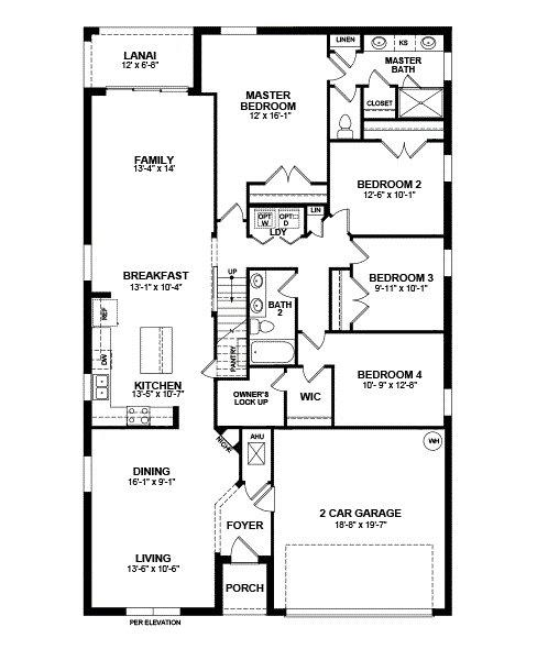 St Augustine Floor Plan first 1