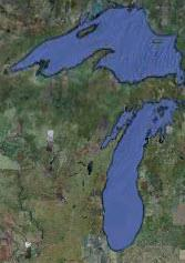 Lake Michigan View from space