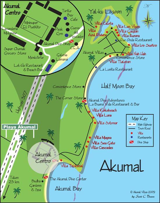 Akumal Detail Map