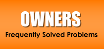 Owners - Frequently Solvd Problems