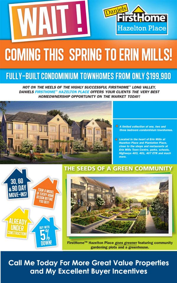 daniels homes in erin mills