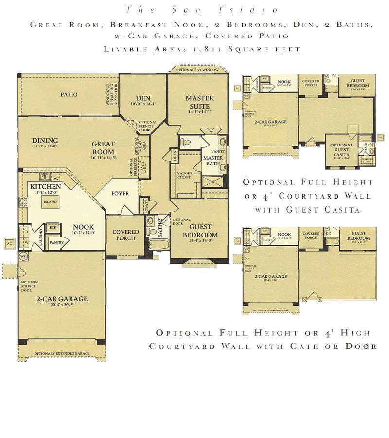 Corte Bella San Ysidro floor plan