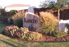 Rancho Alto entrance sign at Frate Barker Road.
