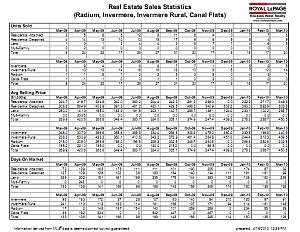 Columbia Valley Real Estate Sales Statistics