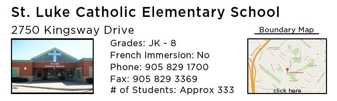 st lukes catholic elementary school oakville